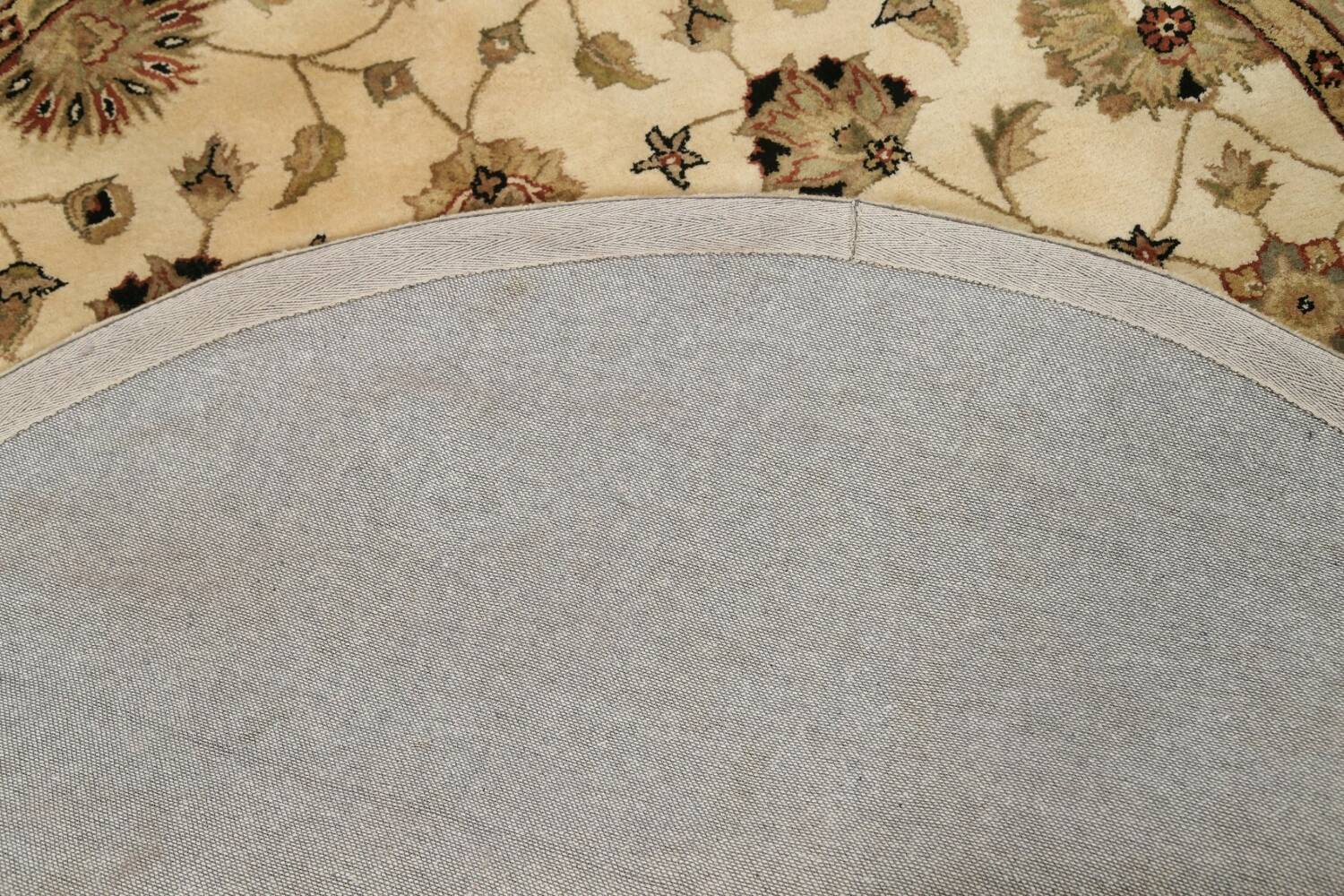 Floral Agra Oriental Area Rug 6x6 Round image 7