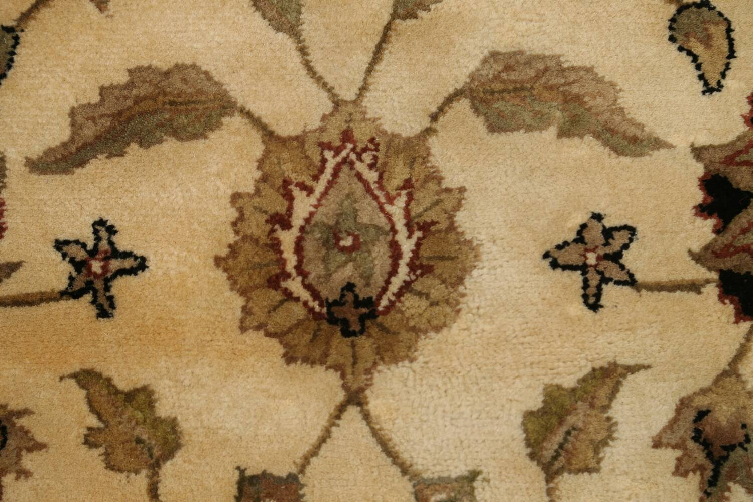 Floral Agra Oriental Area Rug 6x6 Round image 9