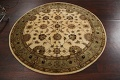Floral Agra Oriental Area Rug 6x6 Round image 10