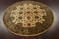 Floral Agra Oriental Area Rug 6x6 Round image 11