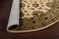 Floral Agra Oriental Area Rug 6x6 Round image 12