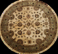 Floral Agra Oriental Area Rug 6x6 Round image 1