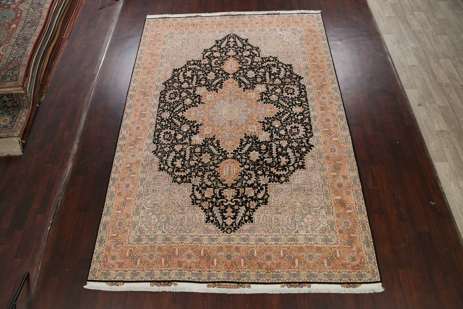 100% Vegetable Dye Tabriz Signed Persian Area Rug 8x12 image 2