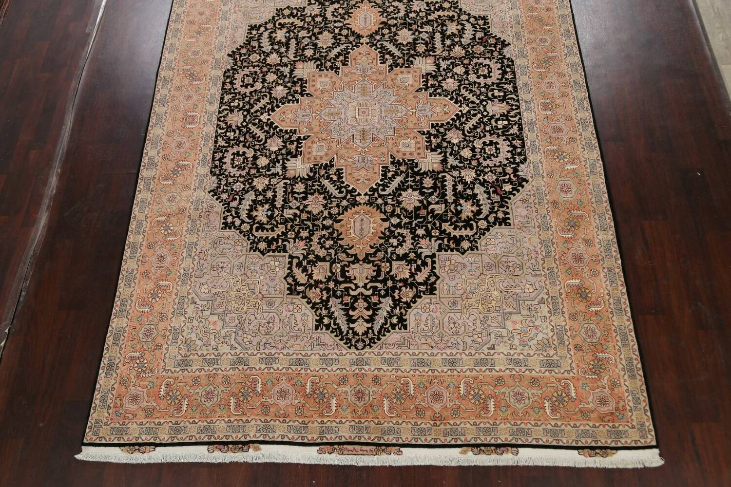 100% Vegetable Dye Tabriz Signed Persian Area Rug 8x12 image 8