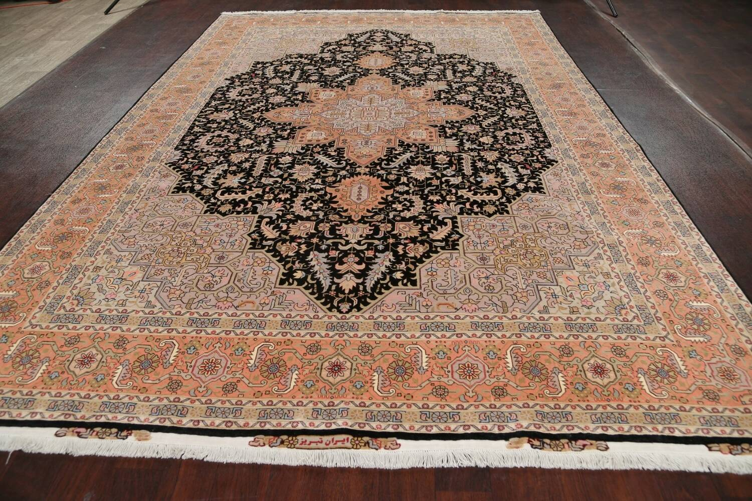100% Vegetable Dye Tabriz Signed Persian Area Rug 8x12 image 16