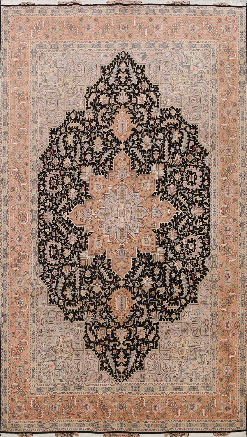 100% Vegetable Dye Tabriz Signed Persian Area Rug 8x12 image 1