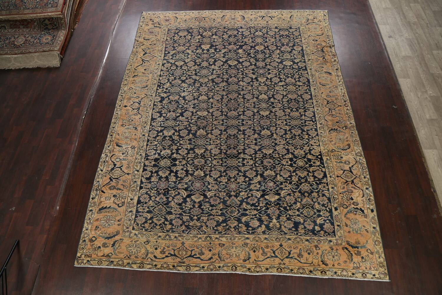 Pre-1900 Antique Vegetable Dye Malayer Persian Area Rug 9x12 image 2