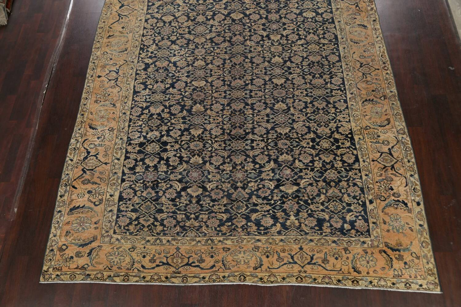 Pre-1900 Antique Vegetable Dye Malayer Persian Area Rug 9x12 image 8