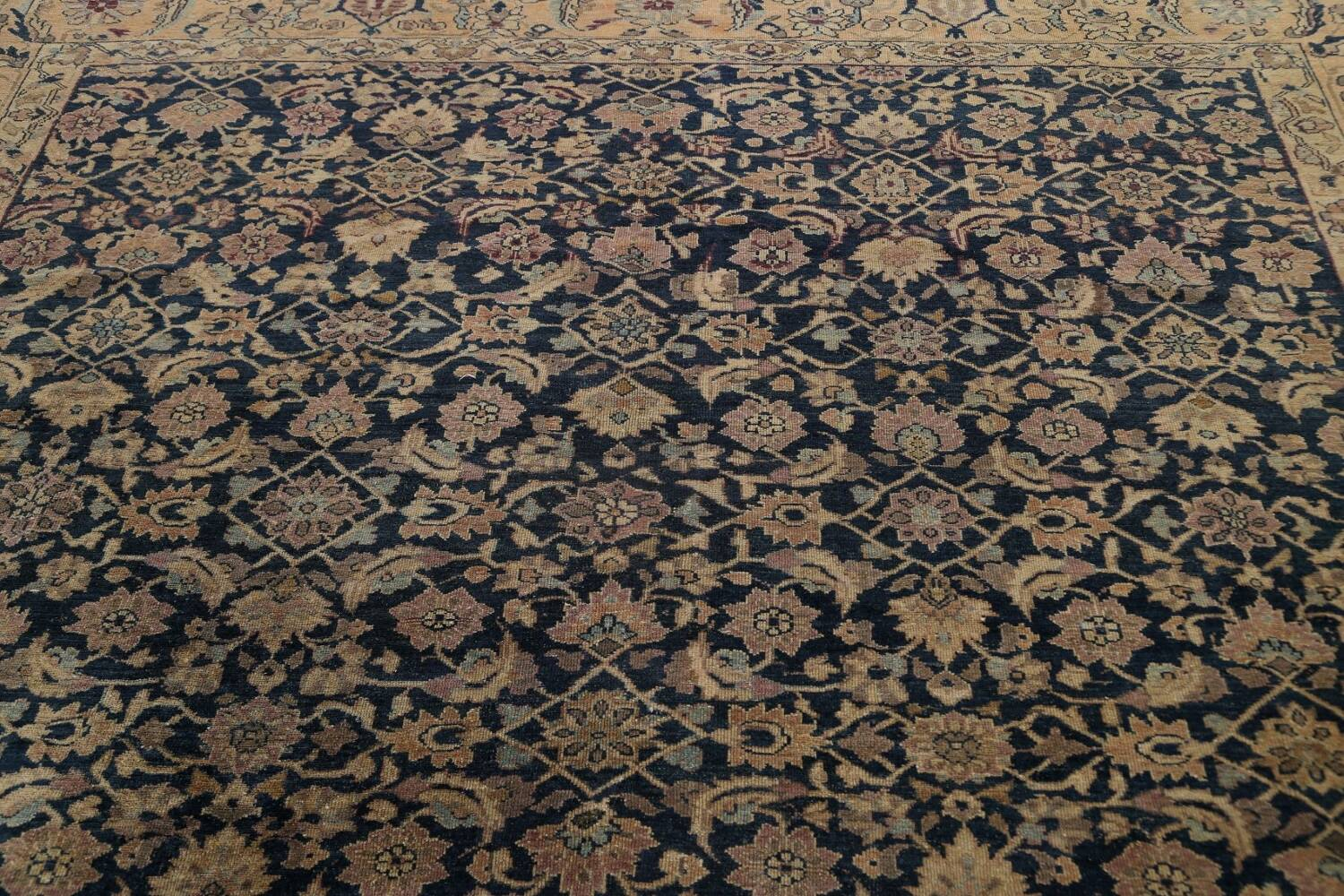 Pre-1900 Antique Vegetable Dye Malayer Persian Area Rug 9x12 image 11