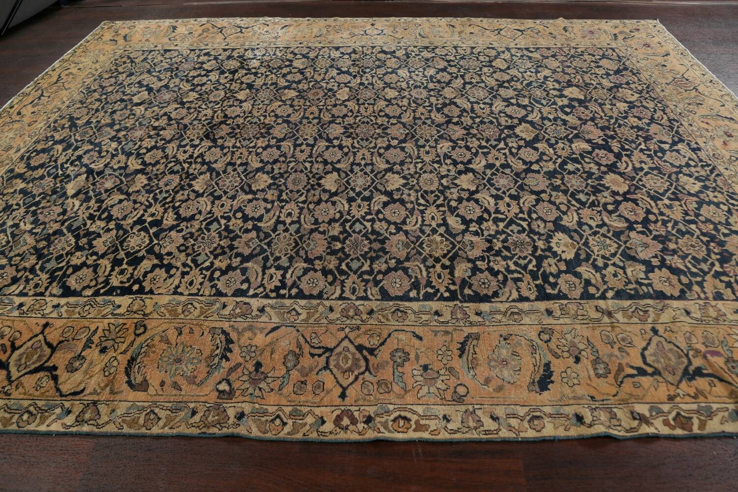 Pre-1900 Antique Vegetable Dye Malayer Persian Area Rug 9x12 image 13