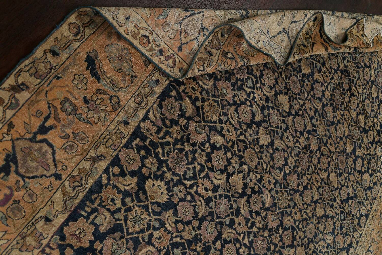 Pre-1900 Antique Vegetable Dye Malayer Persian Area Rug 9x12 image 16