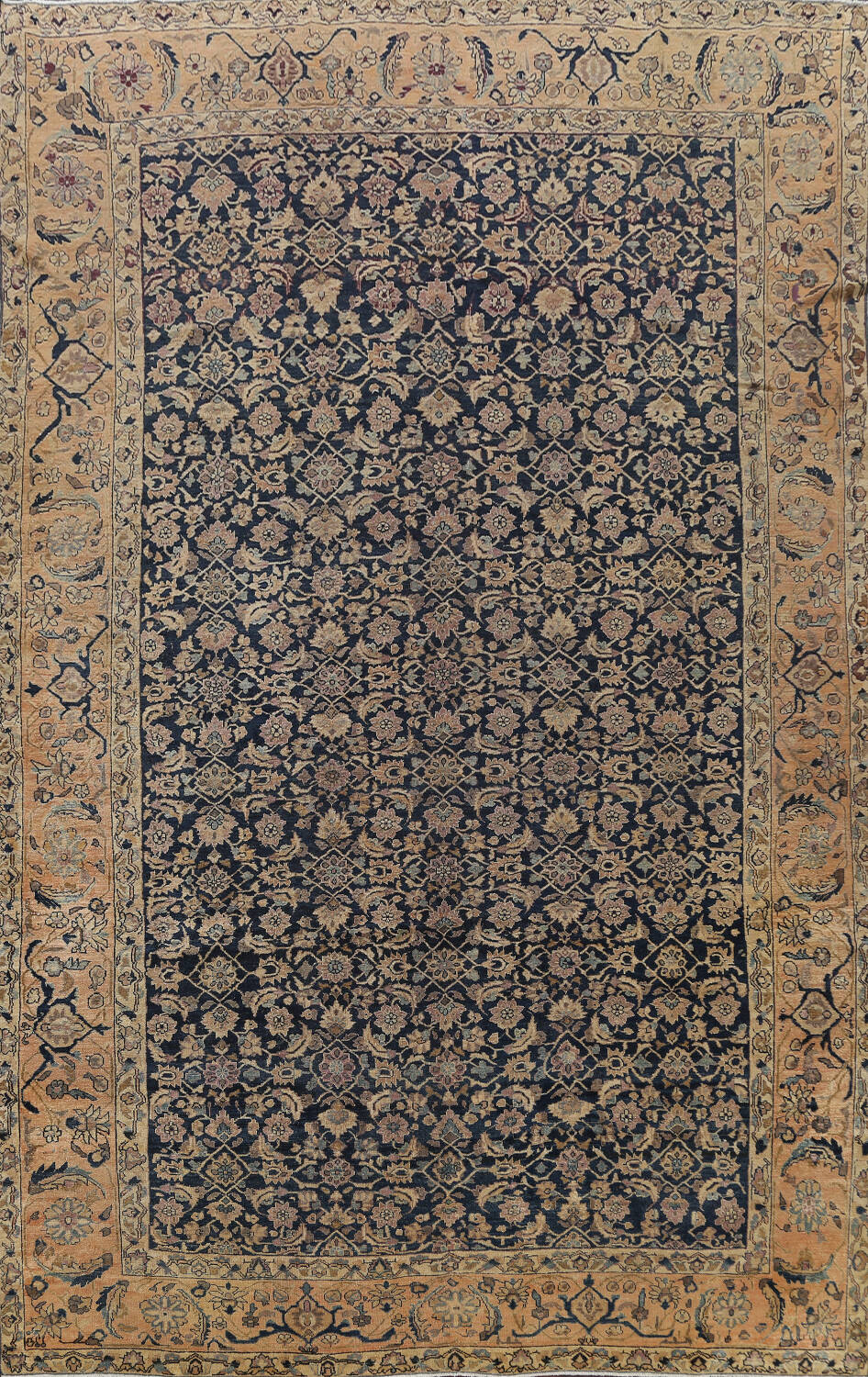 Pre-1900 Antique Vegetable Dye Malayer Persian Area Rug 9x12 image 1