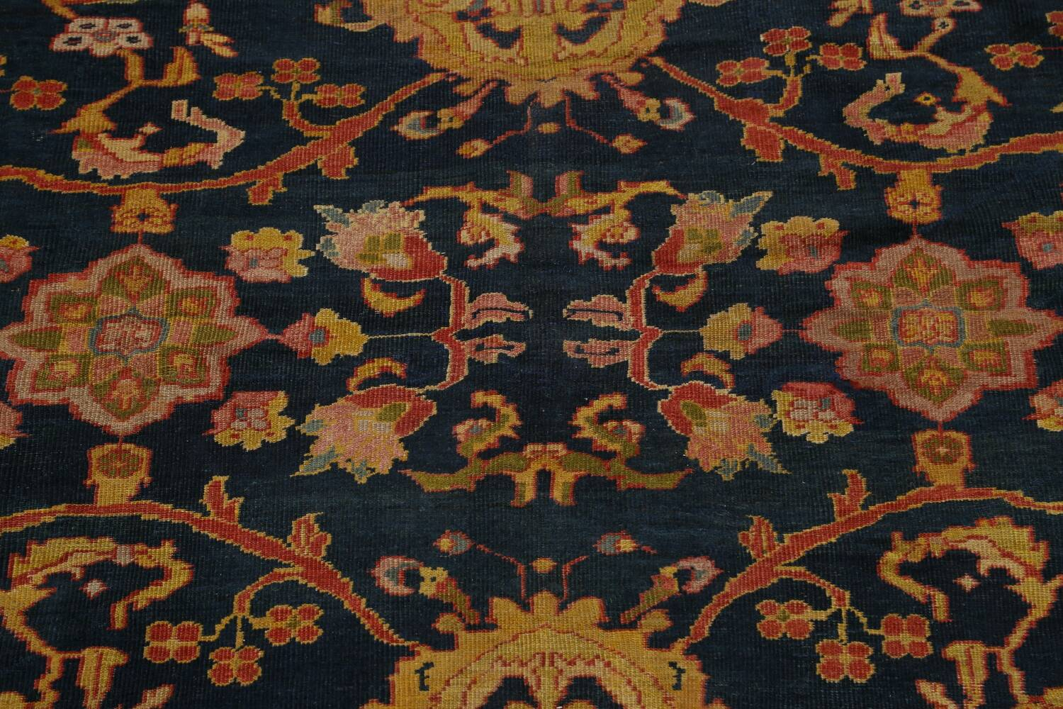 Pre-1900 Antique Vegetable Dye Sultanabad Persian Area Rug 9x10 image 4