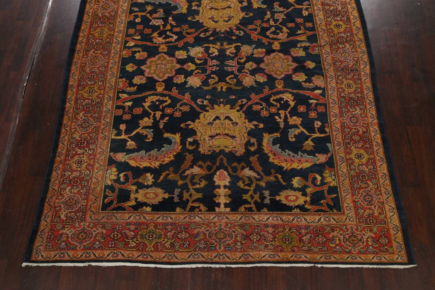 Pre-1900 Antique Vegetable Dye Sultanabad Persian Area Rug 9x10 image 8