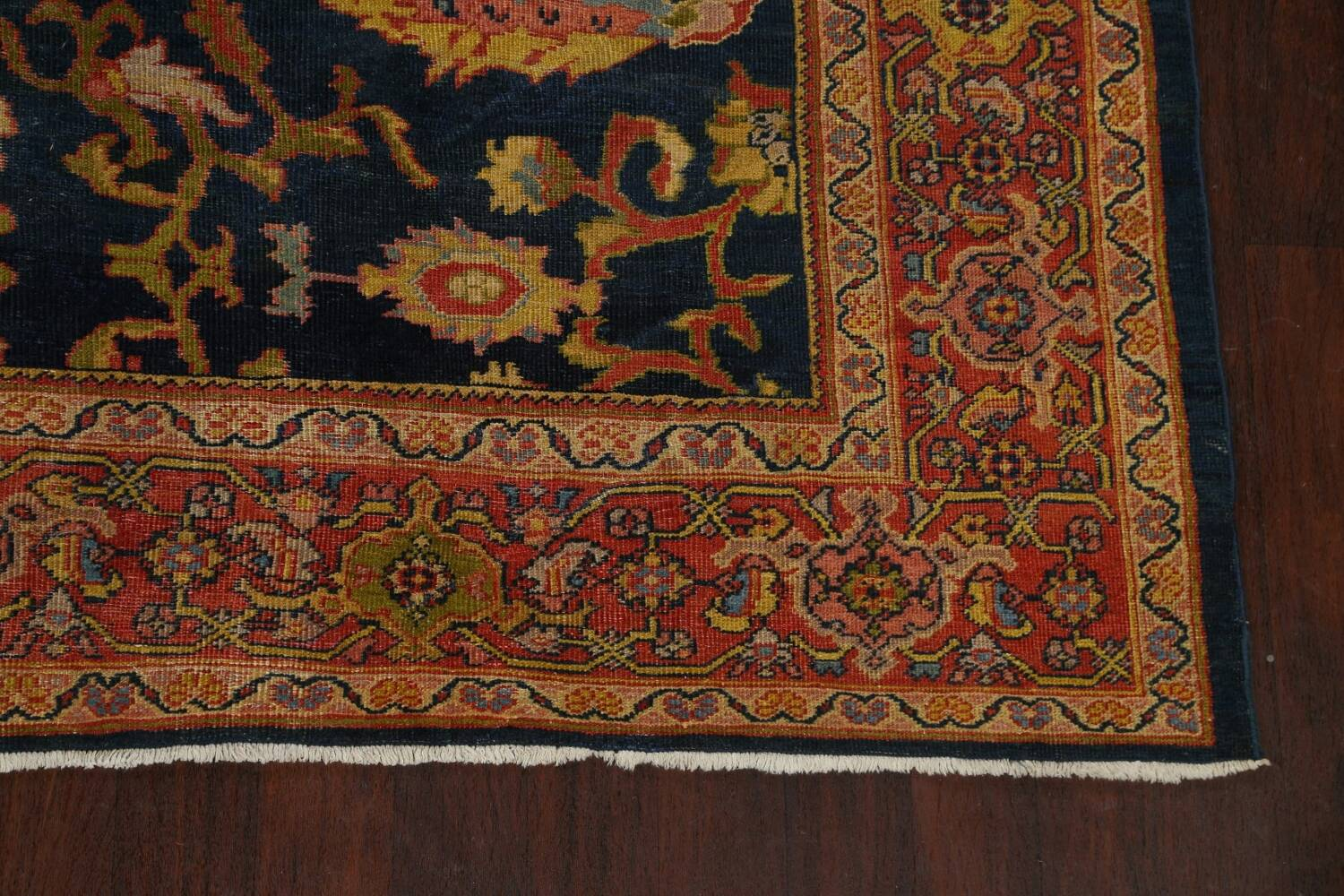 Pre-1900 Antique Vegetable Dye Sultanabad Persian Area Rug 9x10 image 5