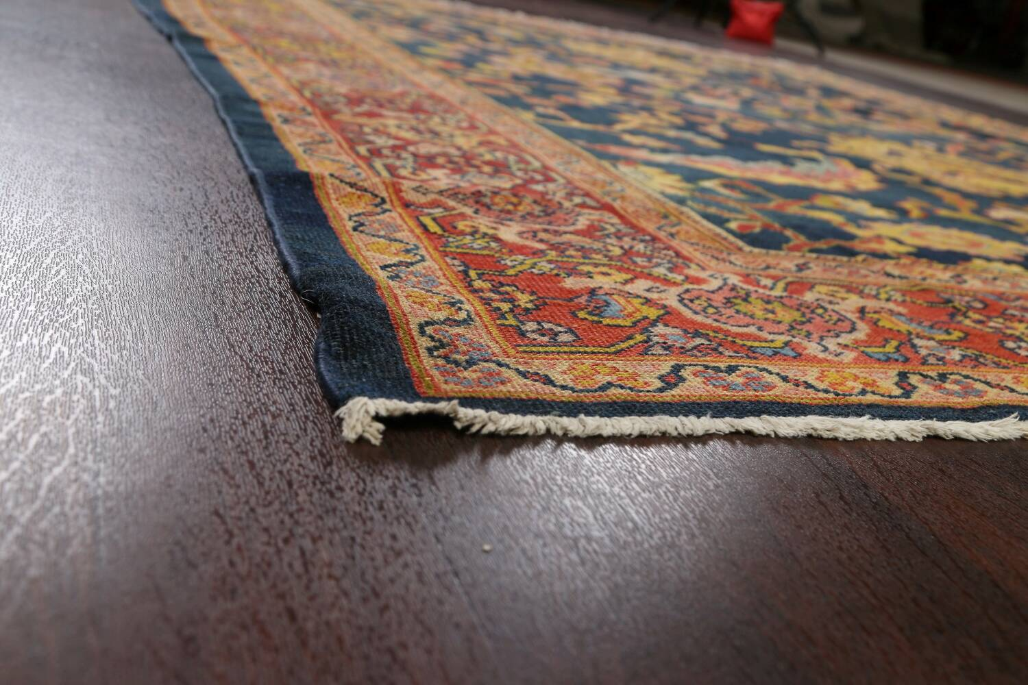 Pre-1900 Antique Vegetable Dye Sultanabad Persian Area Rug 9x10 image 6