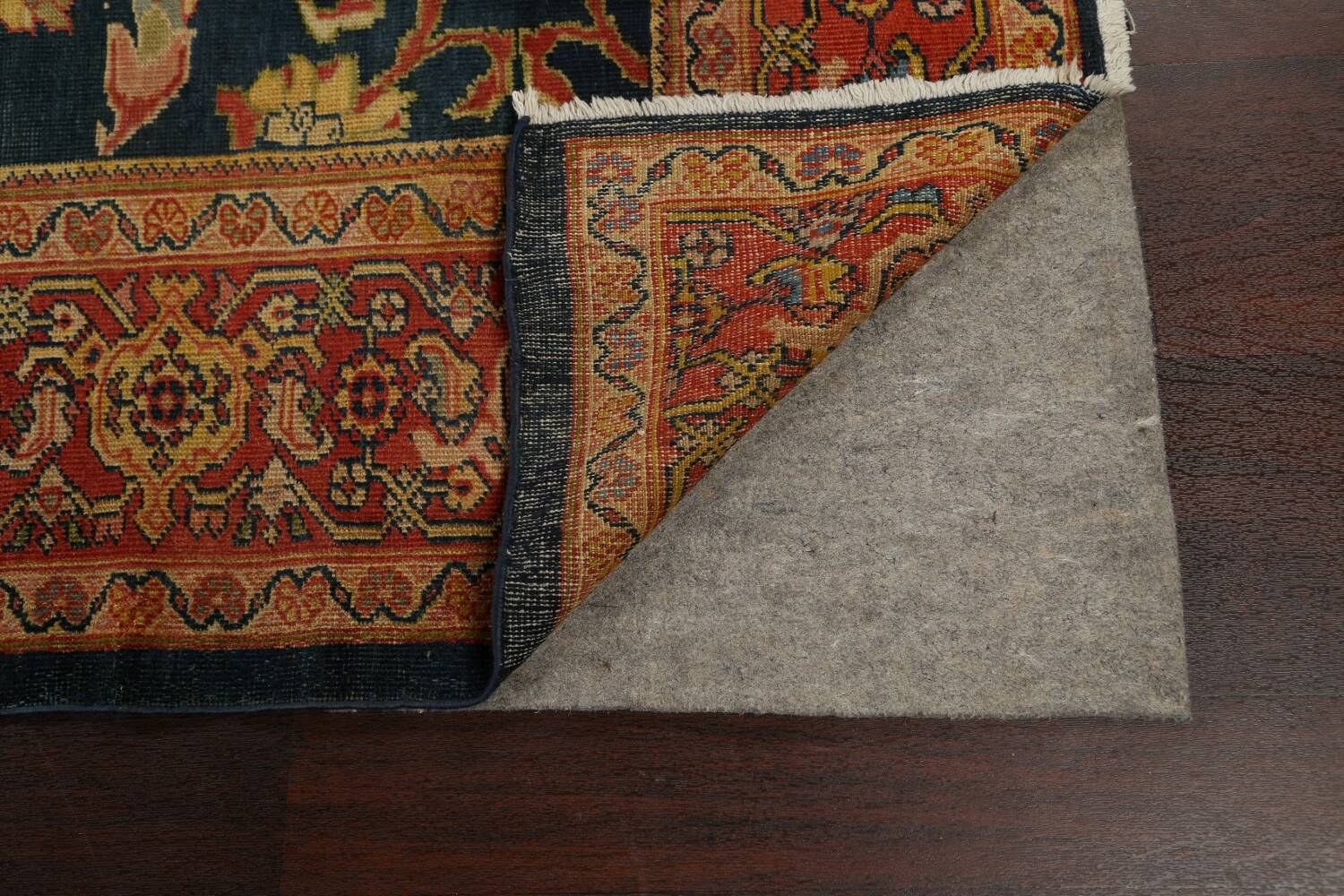 Pre-1900 Antique Vegetable Dye Sultanabad Persian Area Rug 9x10 image 7