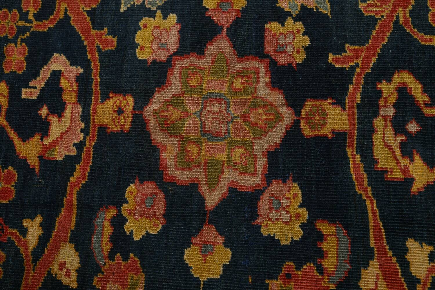 Pre-1900 Antique Vegetable Dye Sultanabad Persian Area Rug 9x10 image 10