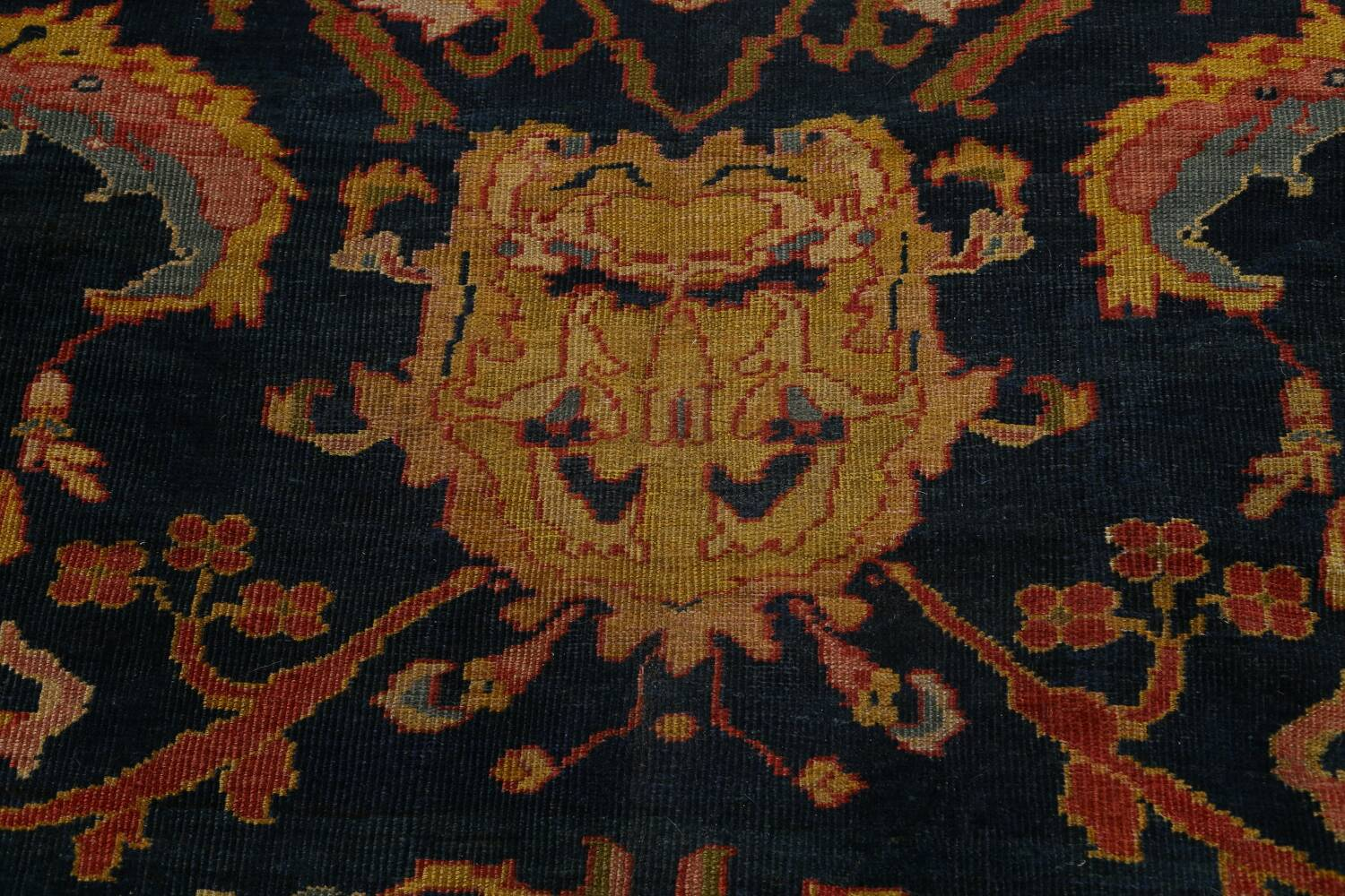 Pre-1900 Antique Vegetable Dye Sultanabad Persian Area Rug 9x10 image 11