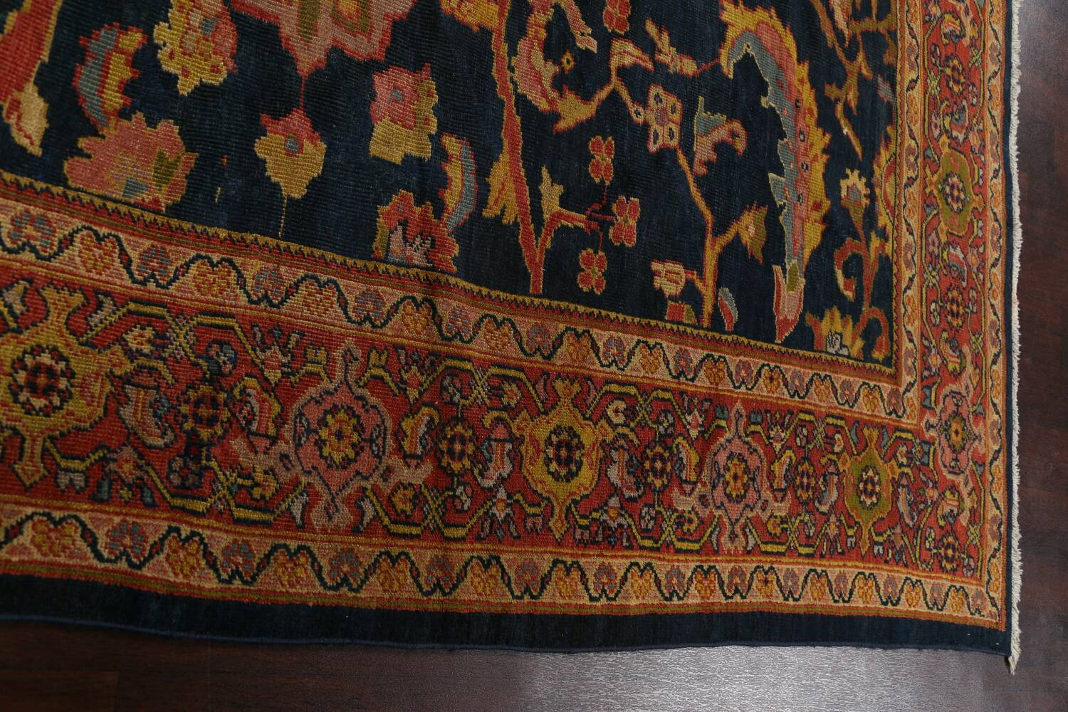Pre-1900 Antique Vegetable Dye Sultanabad Persian Area Rug 9x10 image 13