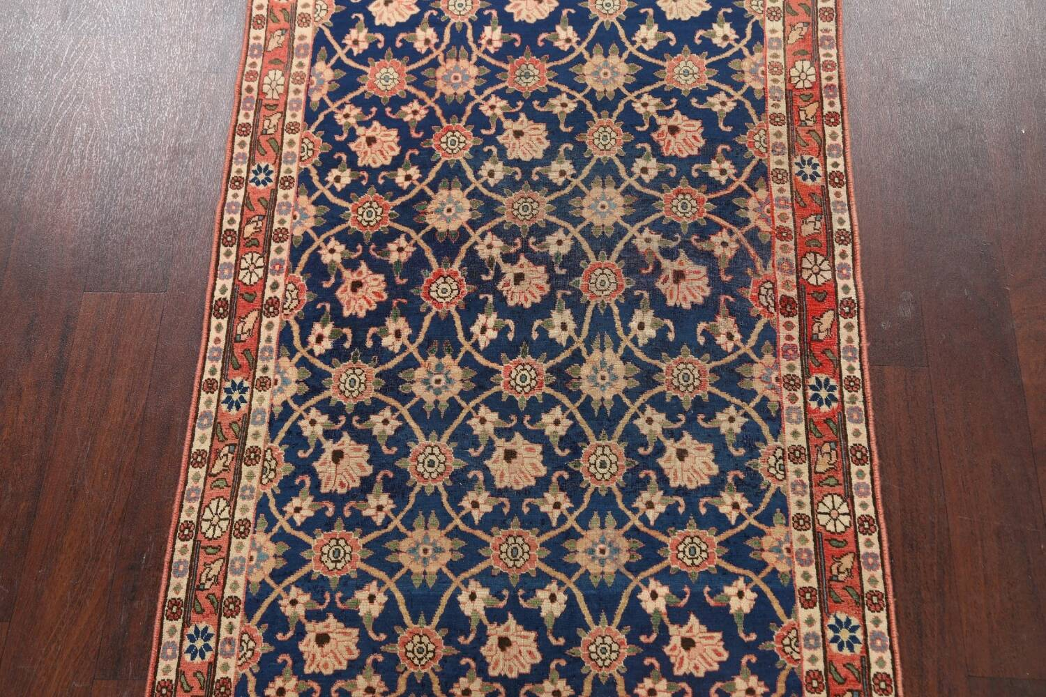 Antique Vegetable Dye Isfahan Persian Area Rug 3x5 image 3