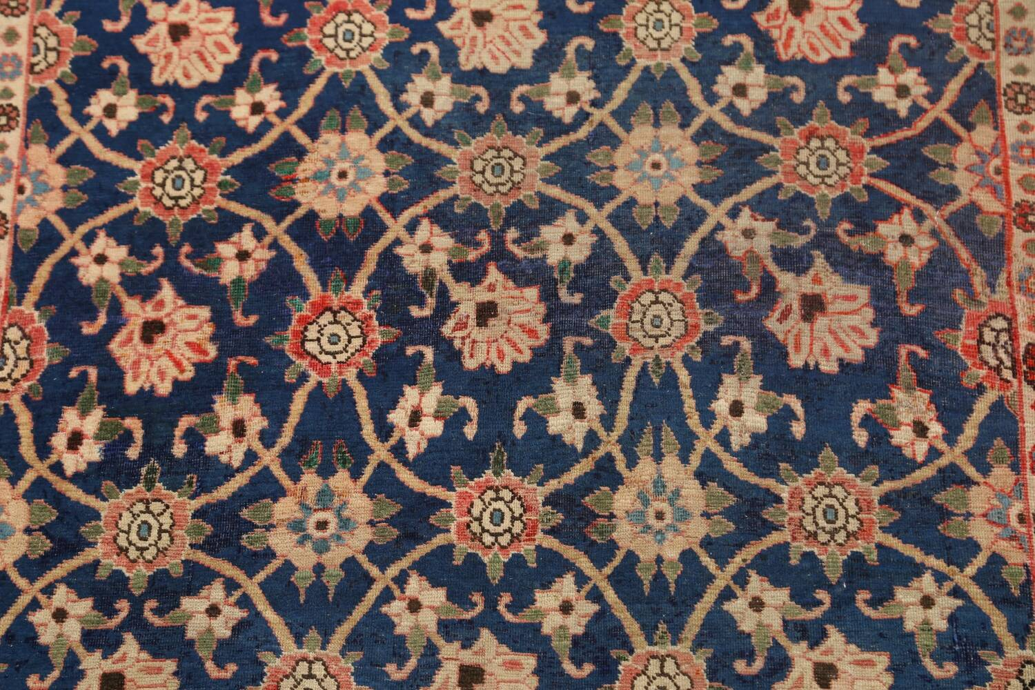 Antique Vegetable Dye Isfahan Persian Area Rug 3x5 image 4