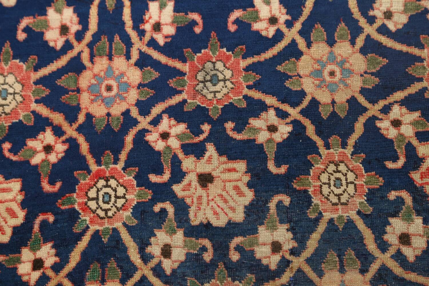 Antique Vegetable Dye Isfahan Persian Area Rug 3x5 image 9
