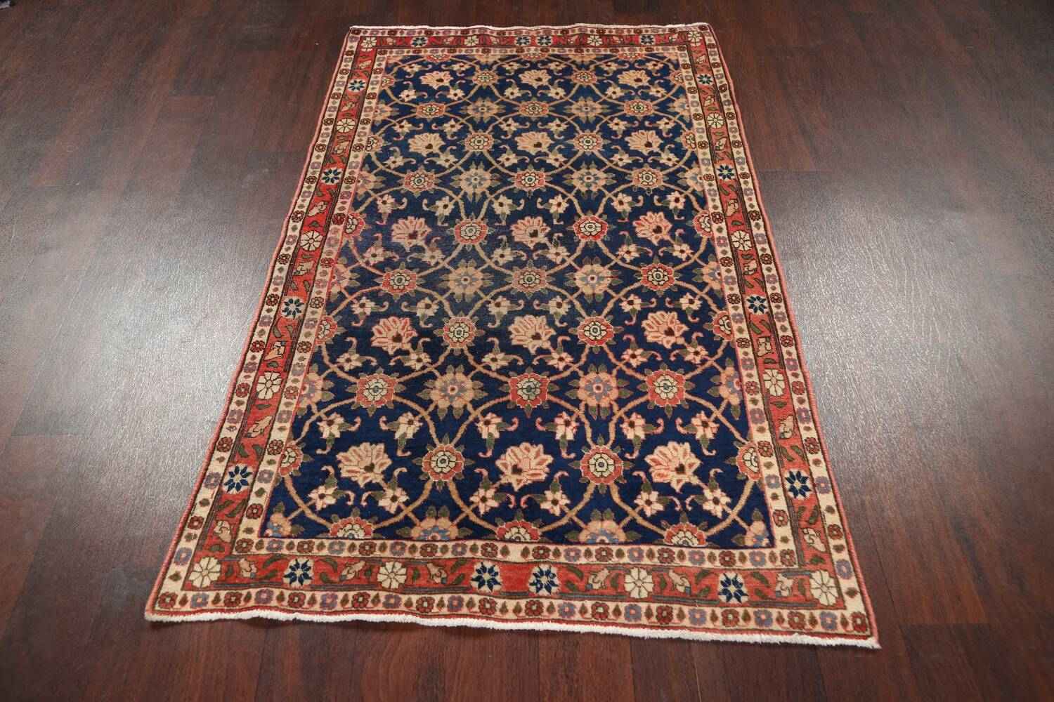 Antique Vegetable Dye Isfahan Persian Area Rug 3x5 image 14