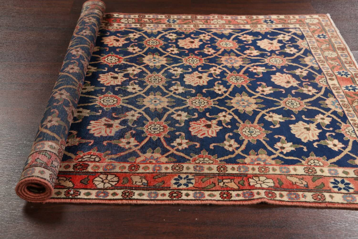 Antique Vegetable Dye Isfahan Persian Area Rug 3x5 image 15