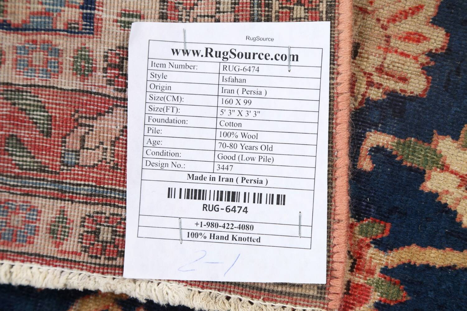 Antique Vegetable Dye Isfahan Persian Area Rug 3x5 image 19