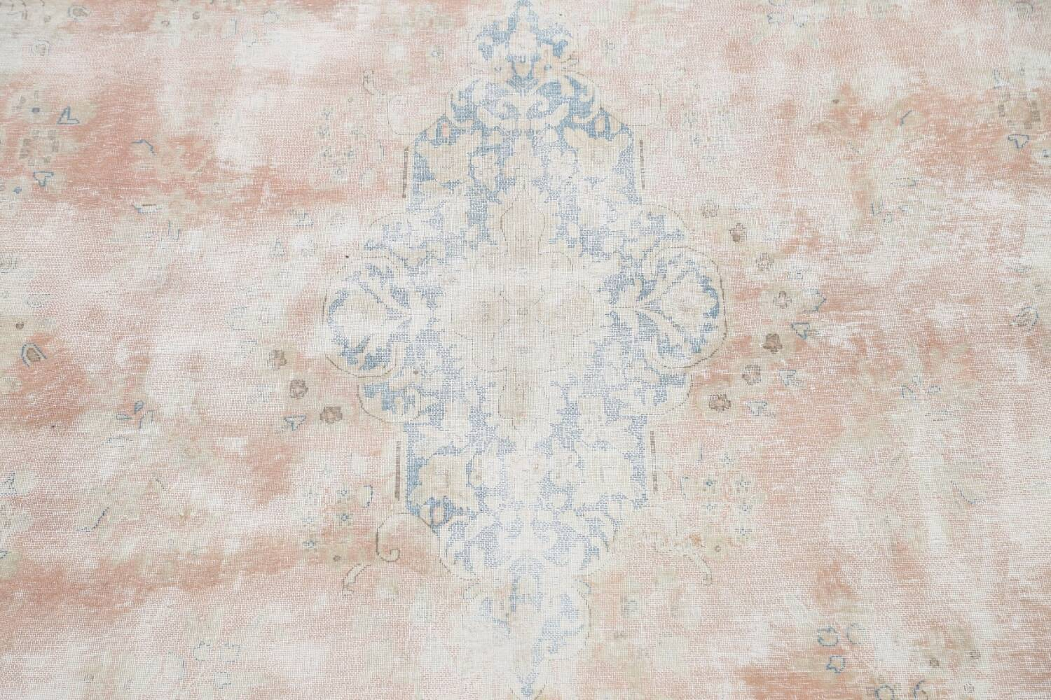 Antique Muted Distressed Kerman Persian Area Rug 10x13 image 4