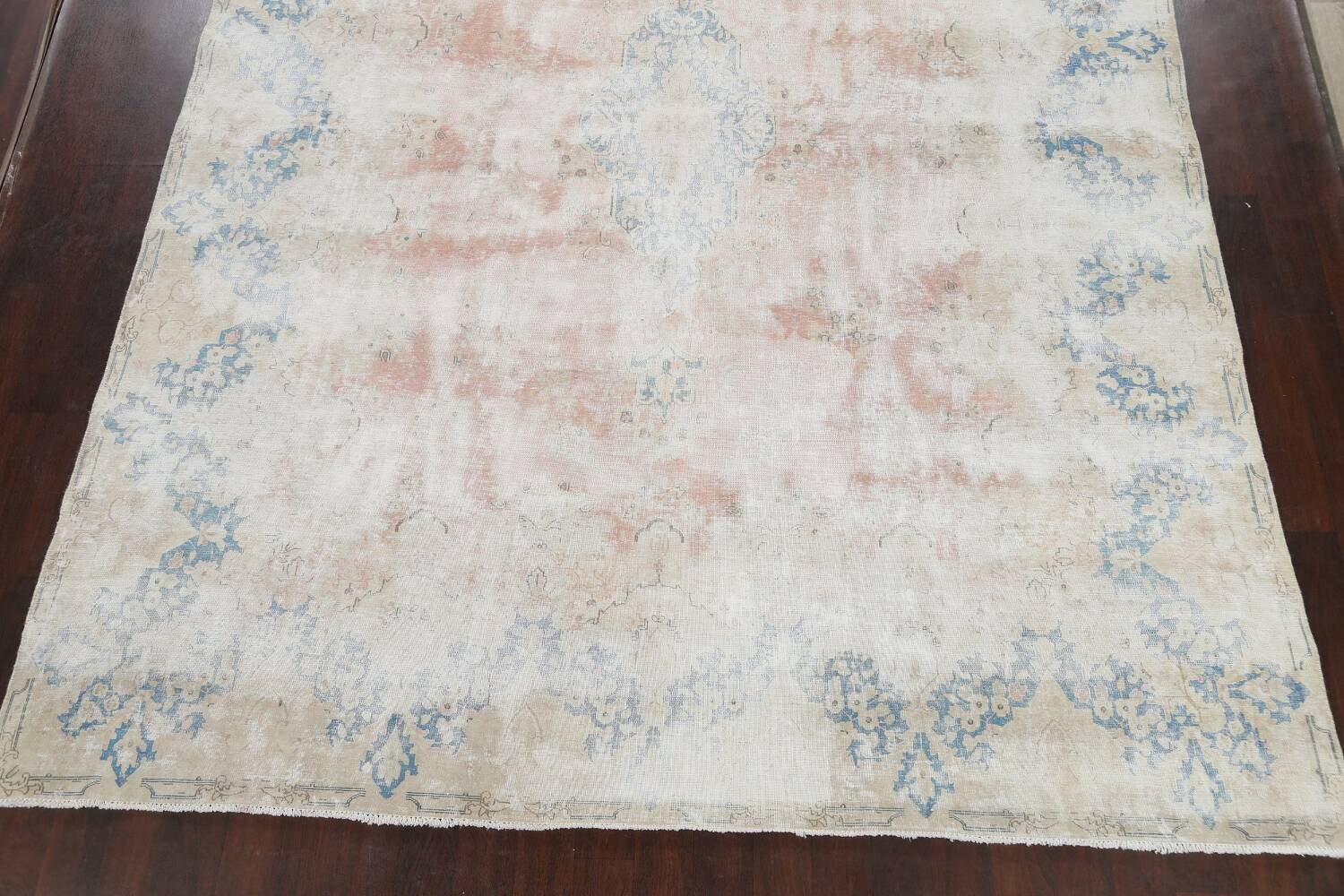 Antique Muted Distressed Kerman Persian Area Rug 10x13 image 8