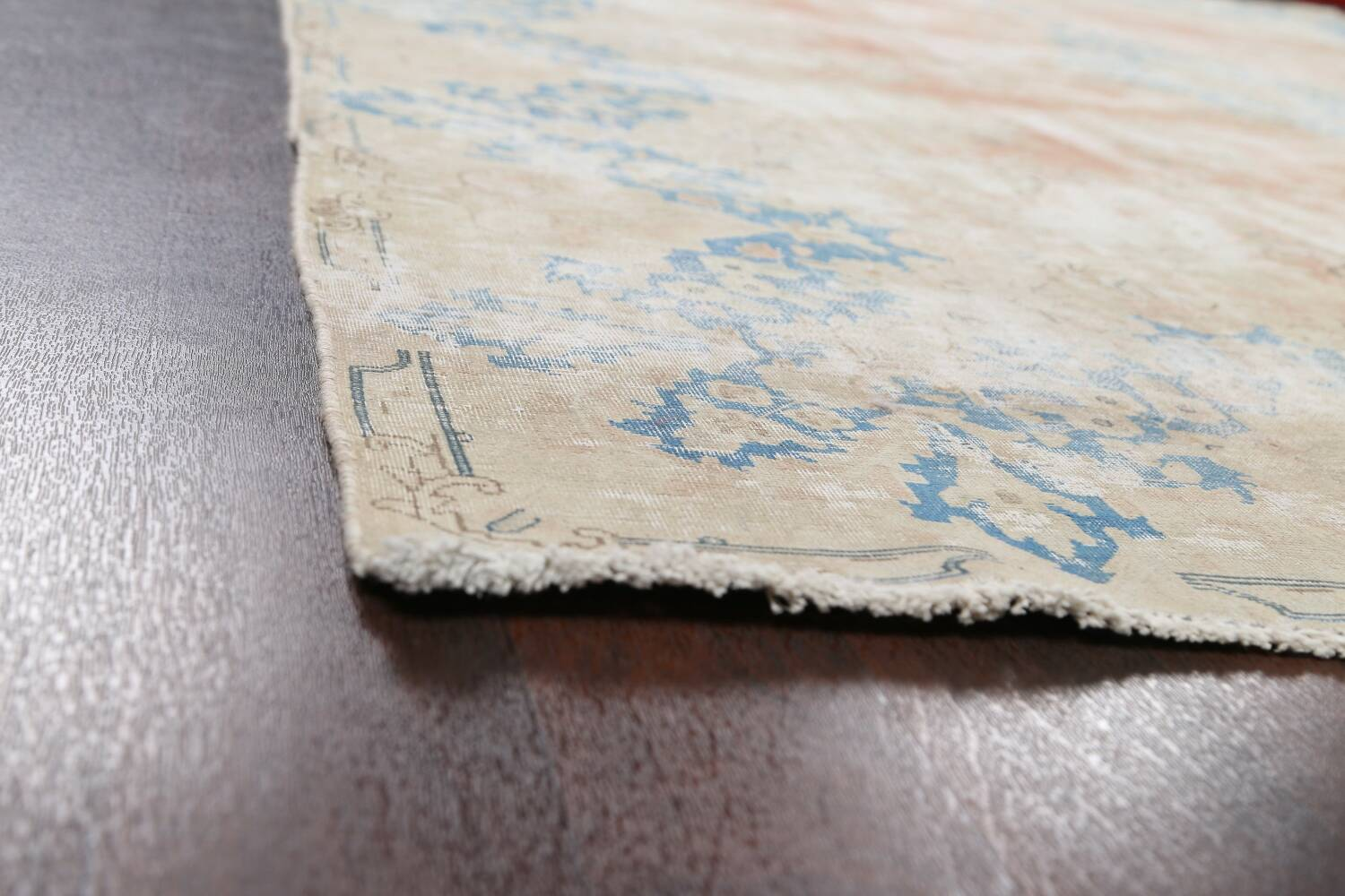 Antique Muted Distressed Kerman Persian Area Rug 10x13 image 6