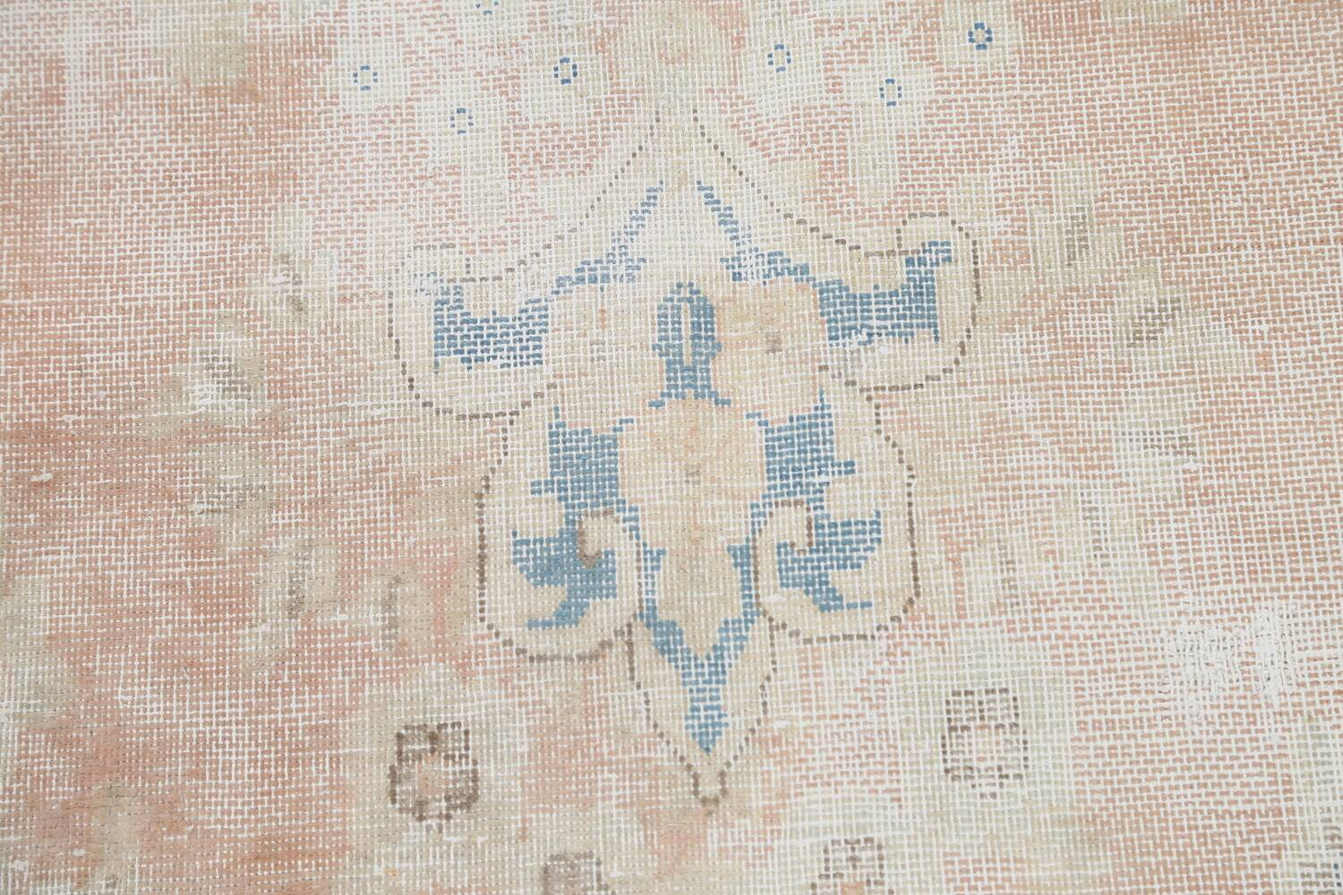 Antique Muted Distressed Kerman Persian Area Rug 10x13 image 10