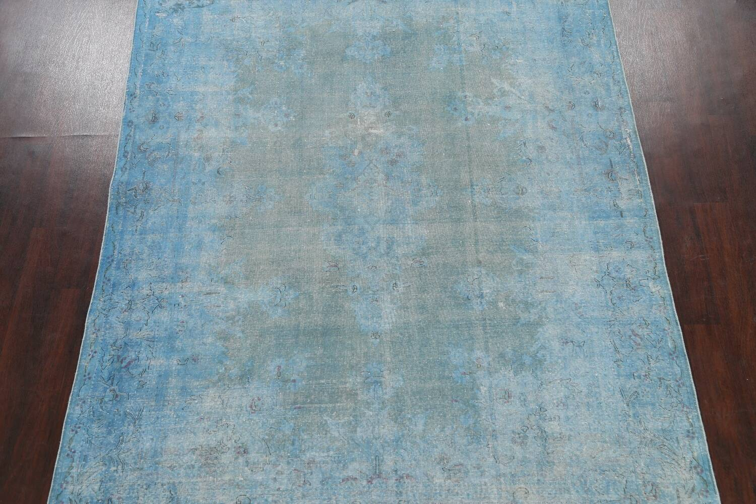 Distressed Over-dye Antique Kerman Persian Area Rug 7x9 image 3