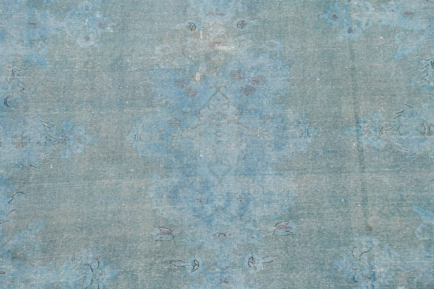 Distressed Over-dye Antique Kerman Persian Area Rug 7x9 image 4