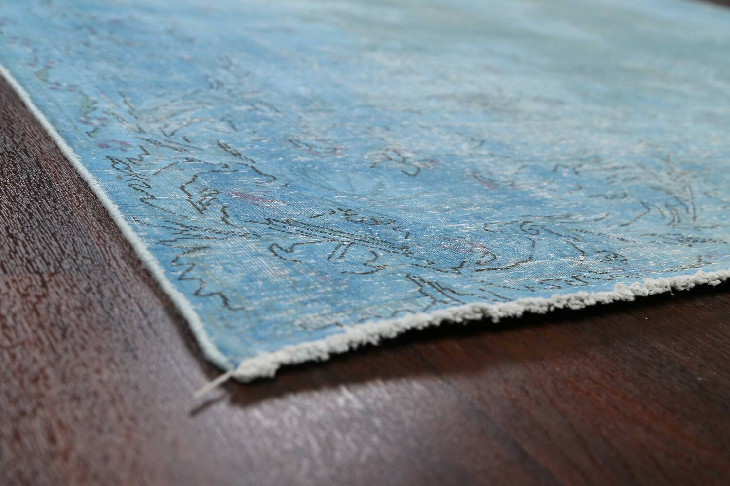 Distressed Over-dye Antique Kerman Persian Area Rug 7x9 image 6