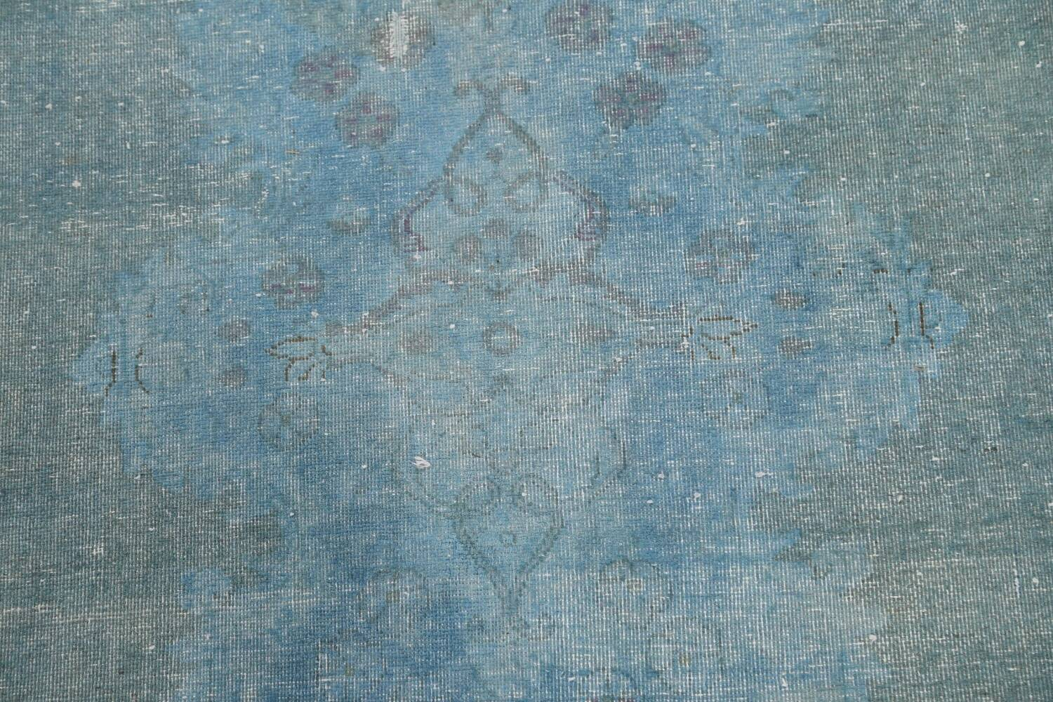 Distressed Over-dye Antique Kerman Persian Area Rug 7x9 image 10
