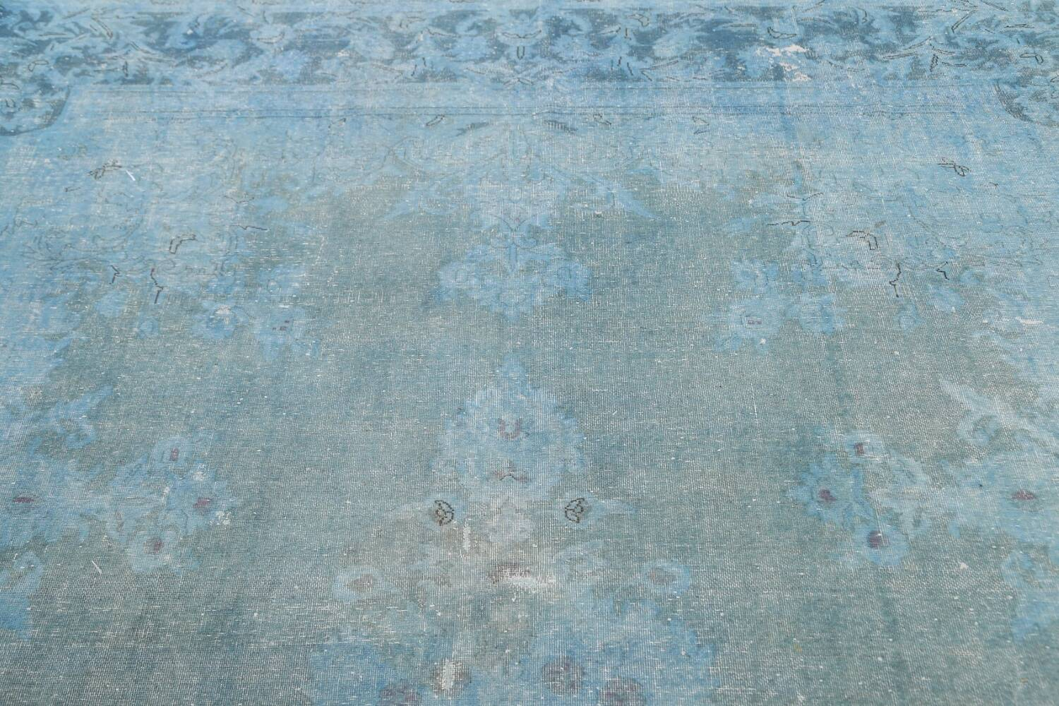 Distressed Over-dye Antique Kerman Persian Area Rug 7x9 image 11