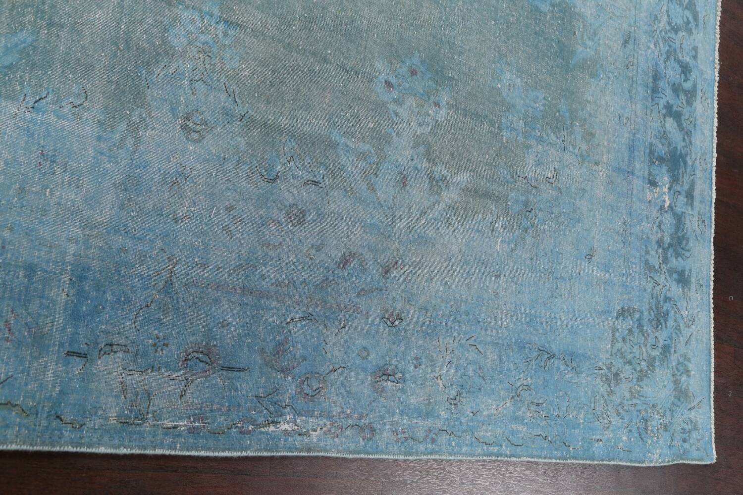 Distressed Over-dye Antique Kerman Persian Area Rug 7x9 image 12