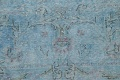 Distressed Over-dye Antique Kerman Persian Area Rug 7x9 image 9