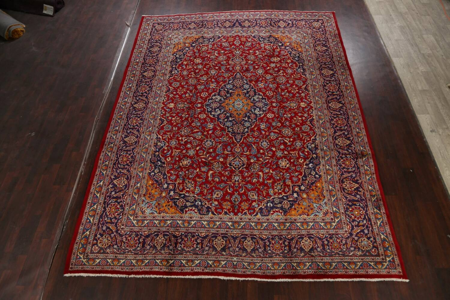 Traditional Floral Mashad Persian Area Rug 10x13 image 2