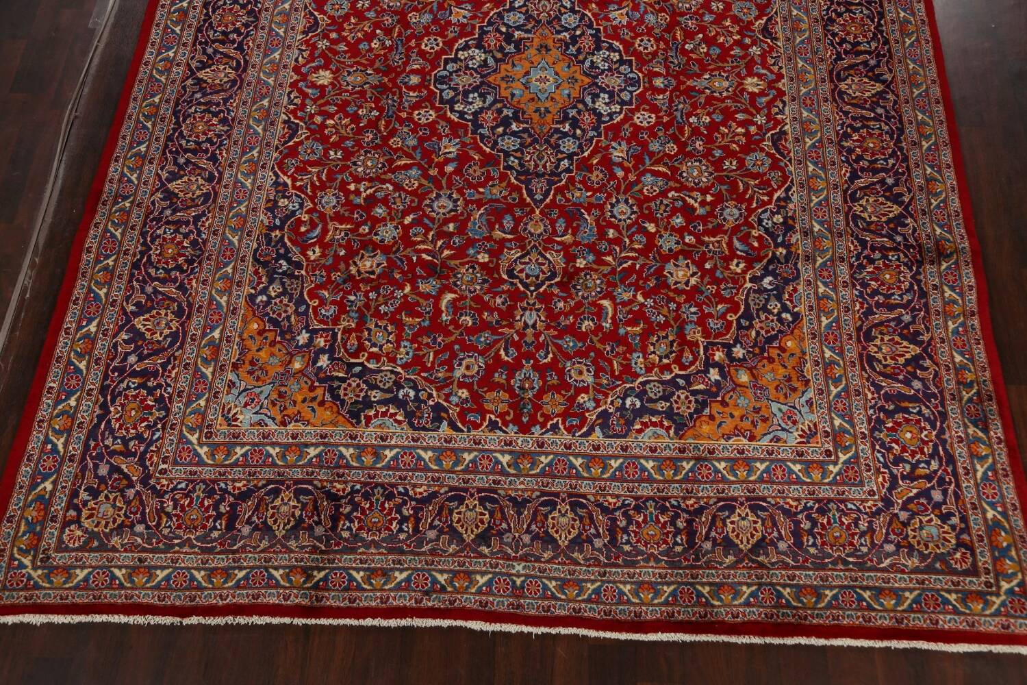 Traditional Floral Mashad Persian Area Rug 10x13 image 8