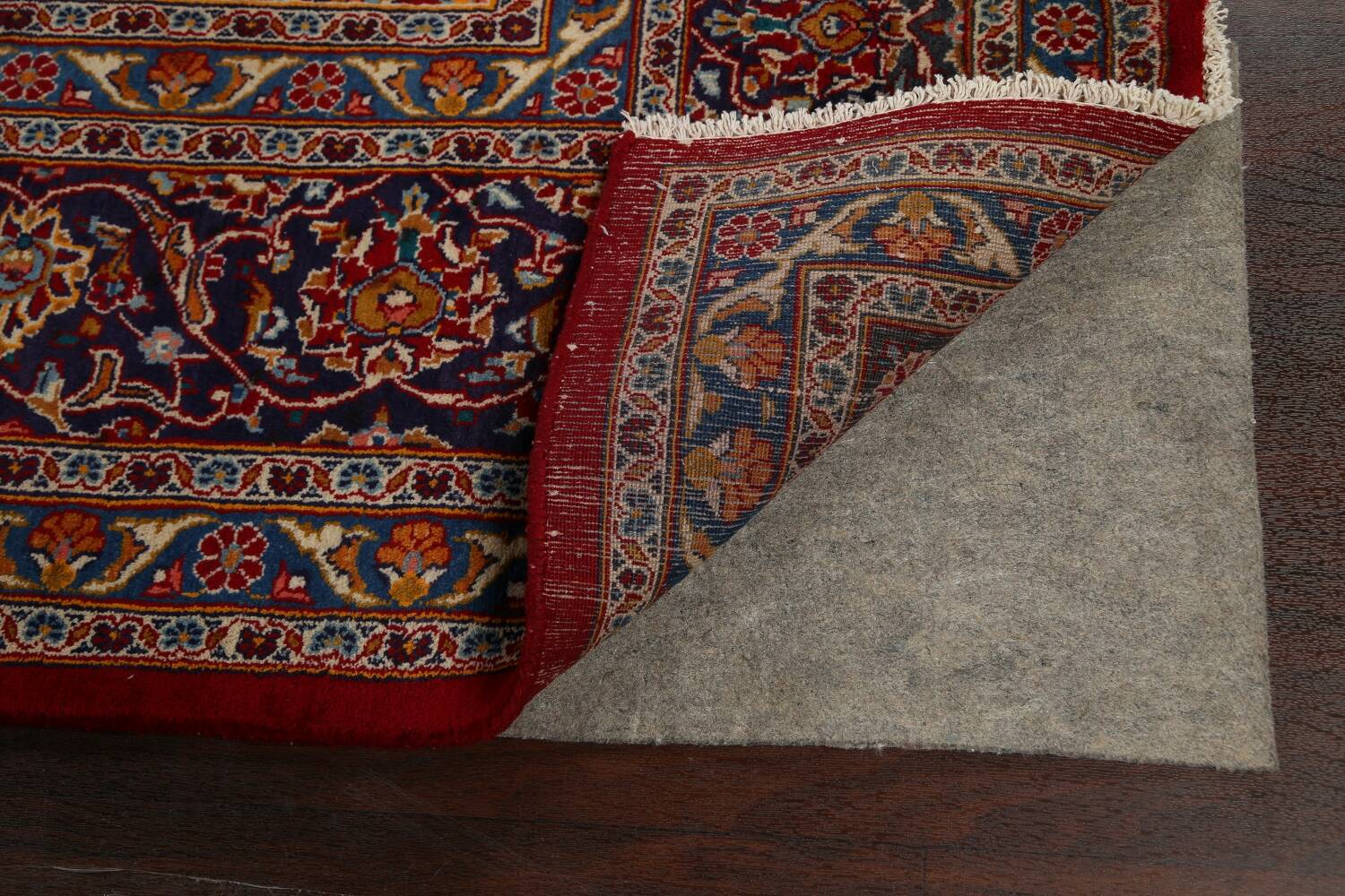 Traditional Floral Mashad Persian Area Rug 10x13 image 7