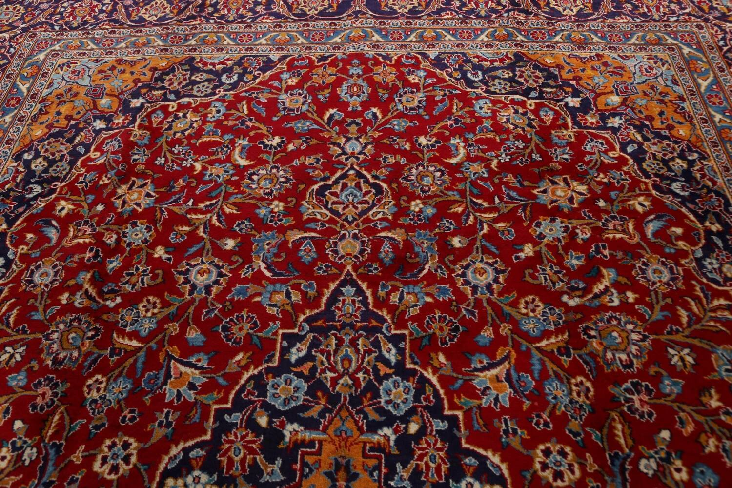 Traditional Floral Mashad Persian Area Rug 10x13 image 12