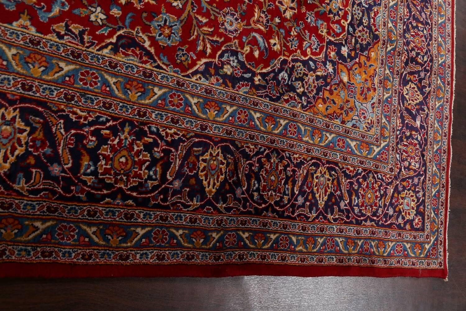 Traditional Floral Mashad Persian Area Rug 10x13 image 15