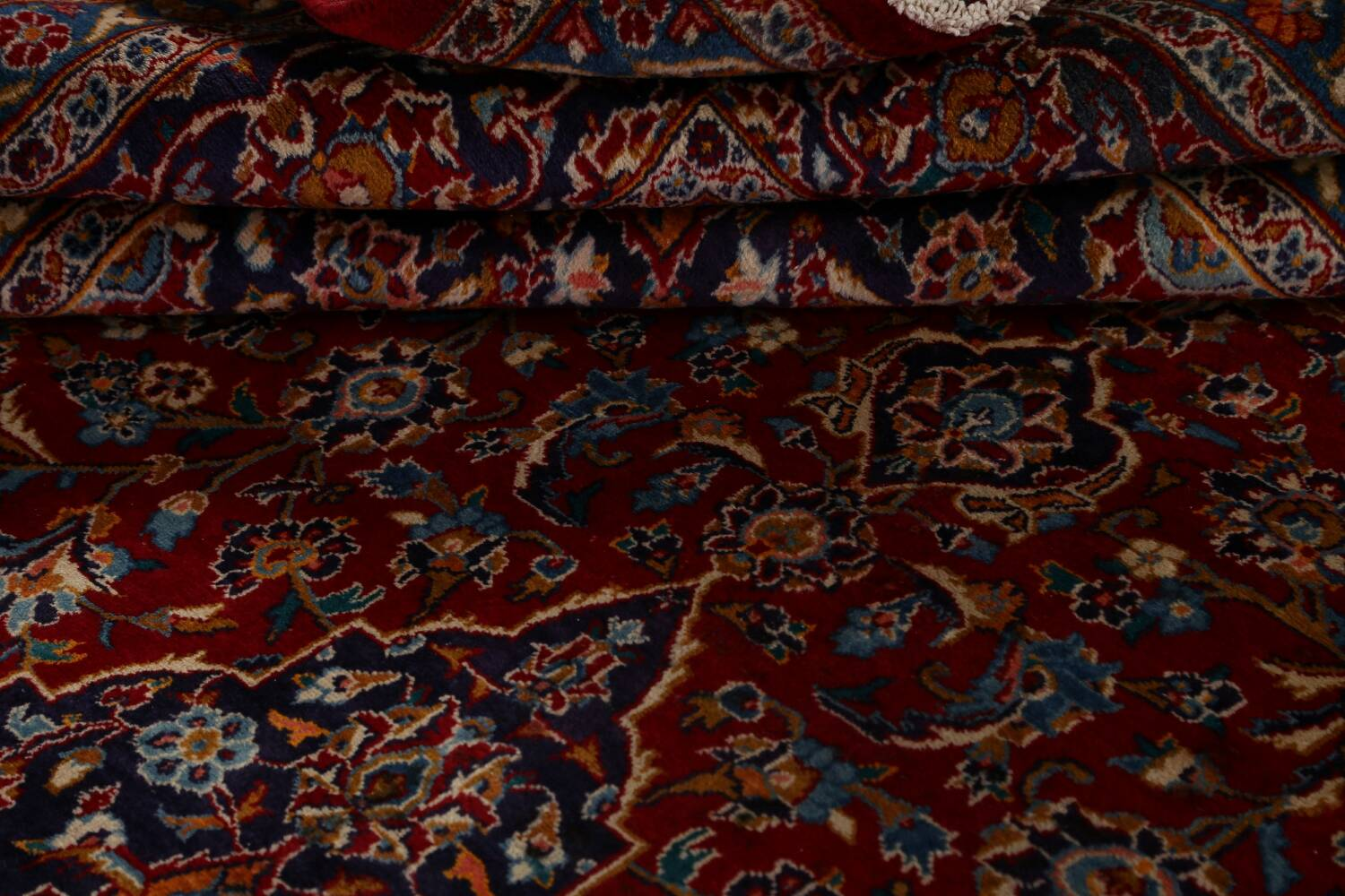 Traditional Floral Mashad Persian Area Rug 10x13 image 18