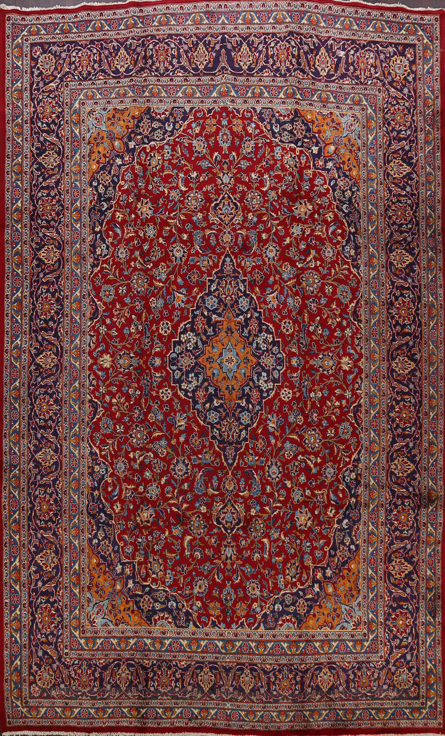 Traditional Floral Mashad Persian Area Rug 10x13 image 1