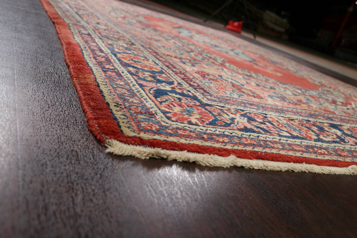 Antique Floral Mahal Persian Area Rug 8x11 image 6