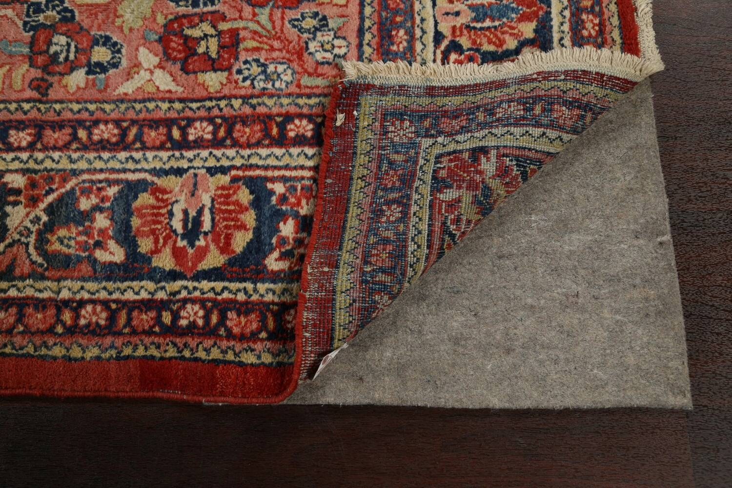 Antique Floral Mahal Persian Area Rug 8x11 image 7